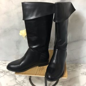 Chinese Laundry Black Cuffed Riding Boots Size 8